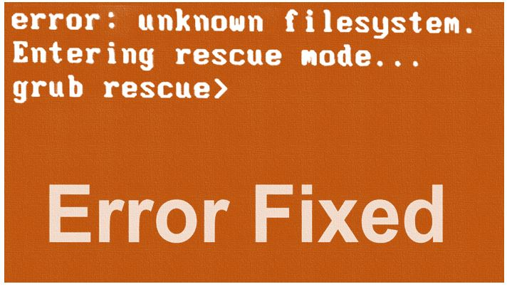 fix grub rescue bootloader after deleting ubuntu partition