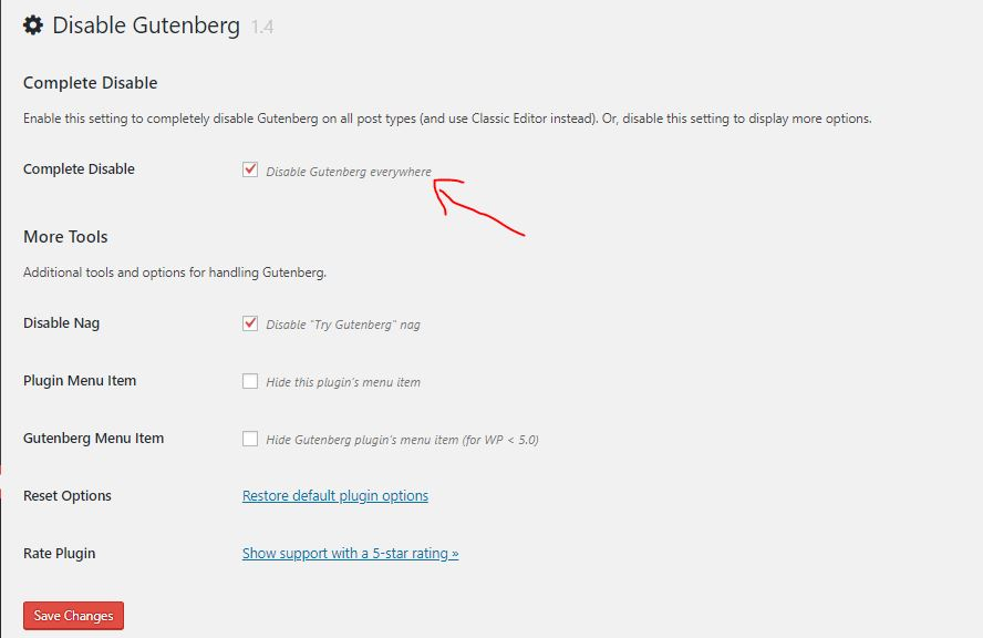 how to remove gutenberg from wordpress 5.0