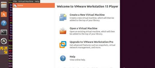 vmware workstation 15 installed on Linux Ubuntu sucessfully