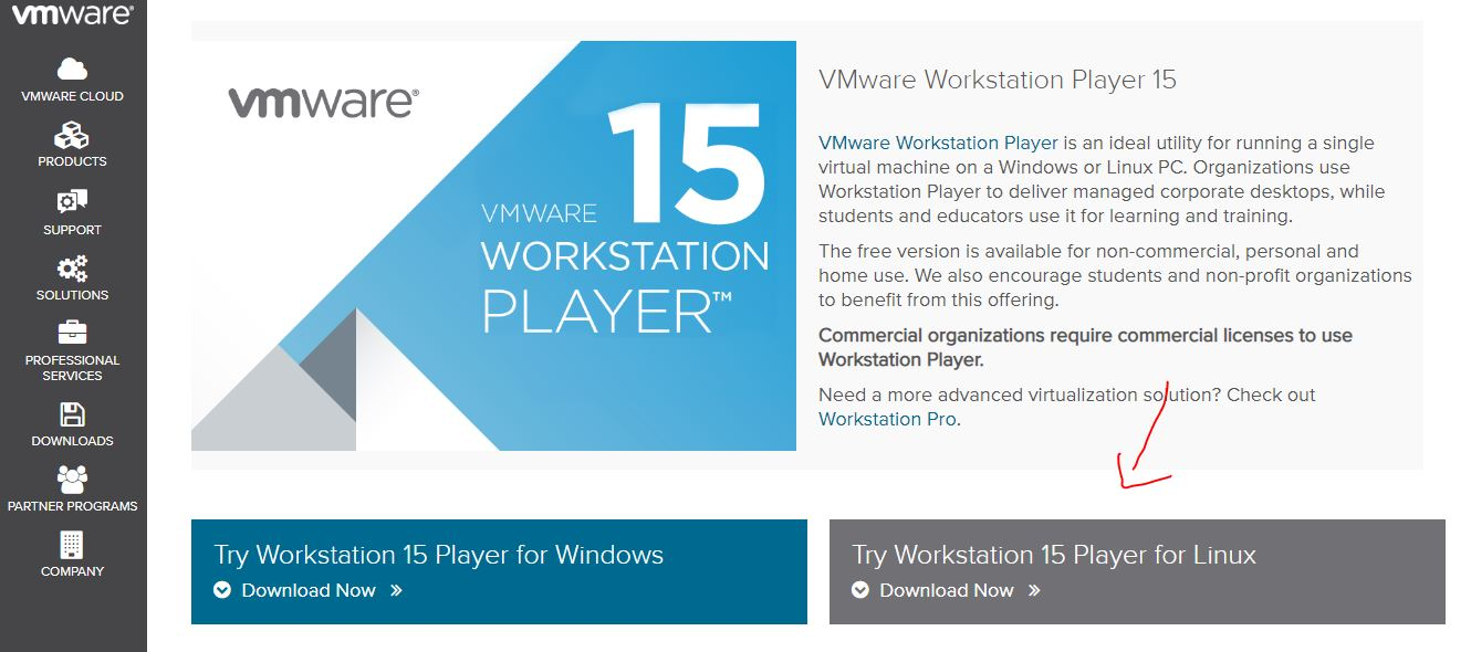 workstatuion 15 player for linux