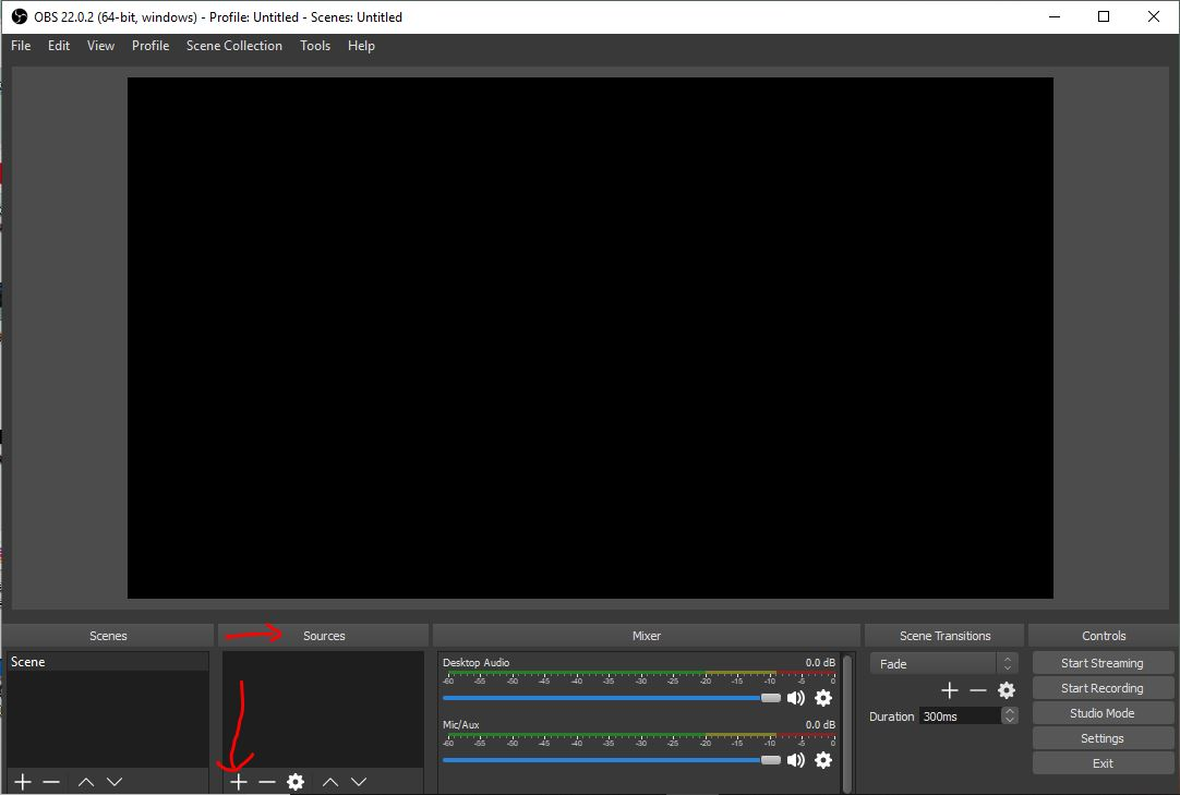 Add source to OBS recording tool
