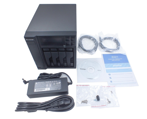 Asustor As6404t NAS products accessories inside the box