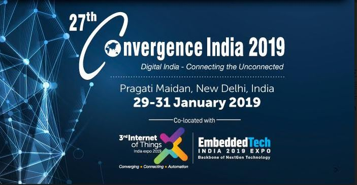 Convergence India 2019 Expo inaugurated by Shri. Suresh Prabhu, Minister of Commerce & Industry and Civil Aviation
