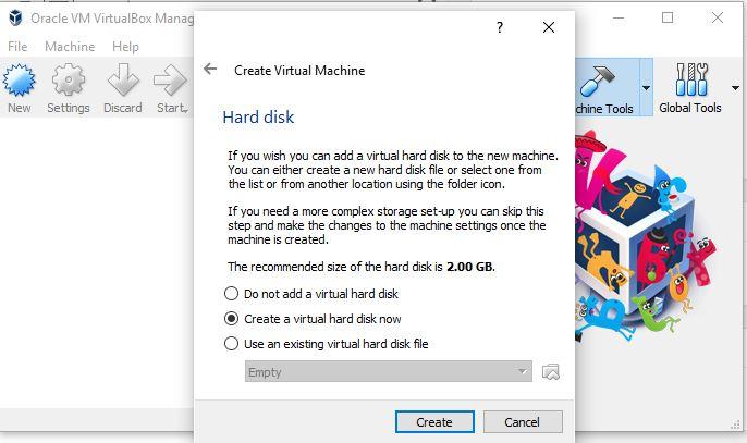 Create drive virtual