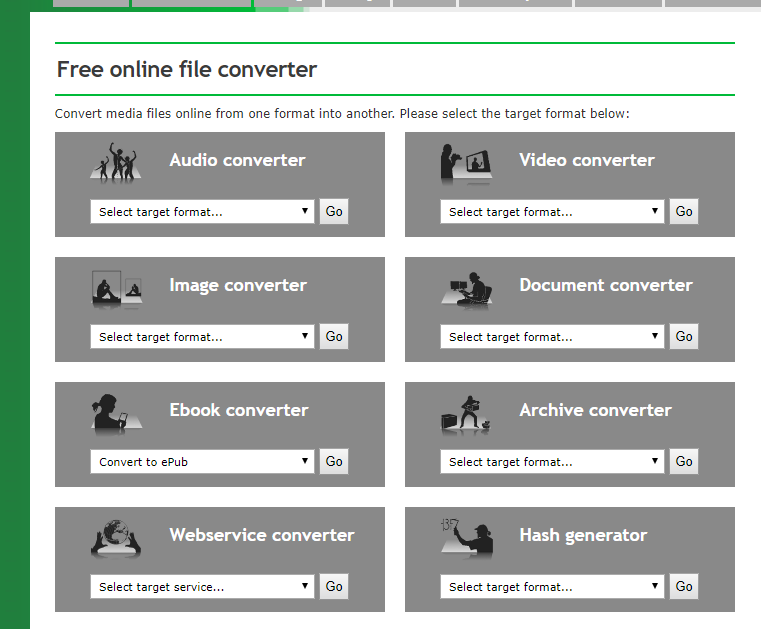 Free online file convertor