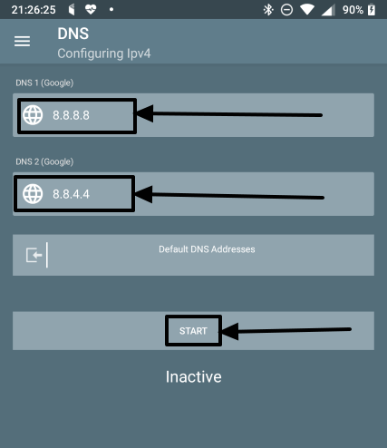 How to change DNS server on all Android devices without getting root access 6