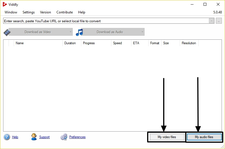 Viddly audio download button
