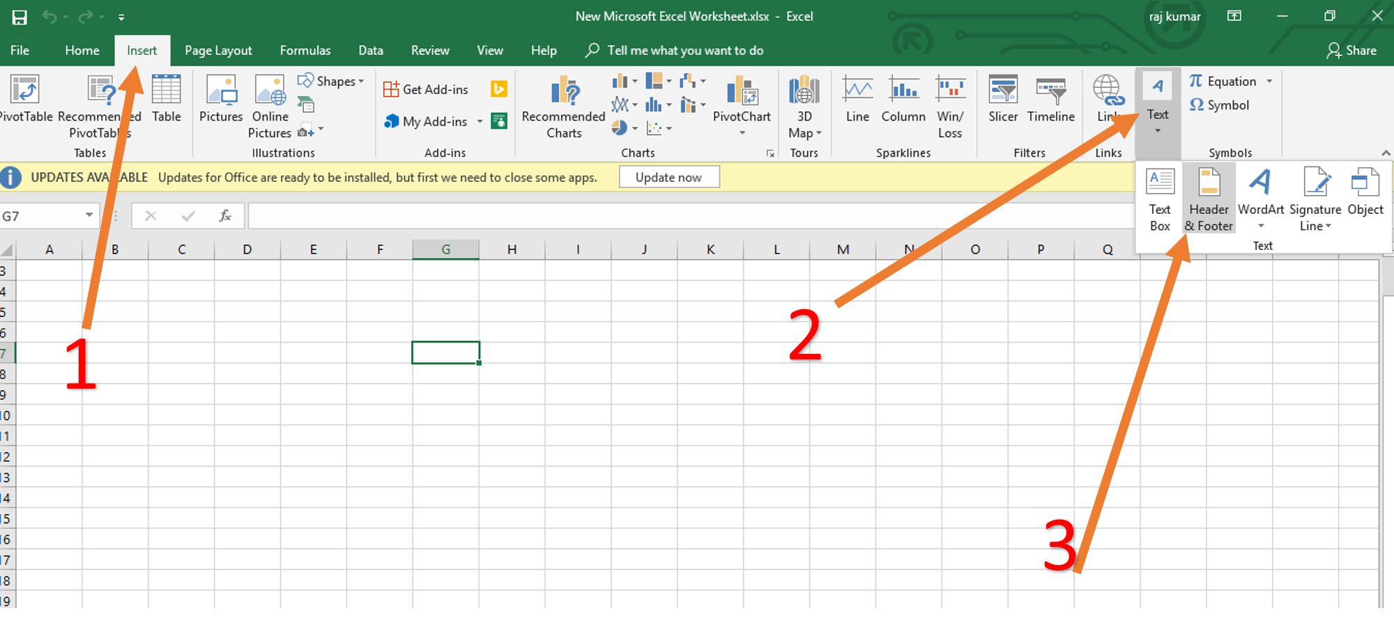 How to insert watermark in Excel 2016, 360, 2017, 2013