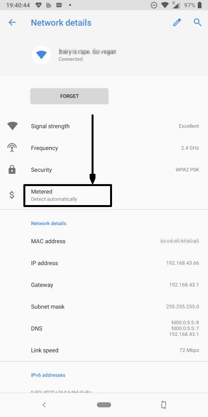 How to set Wi-Fi networks as metered or unmetered on Android devices 3