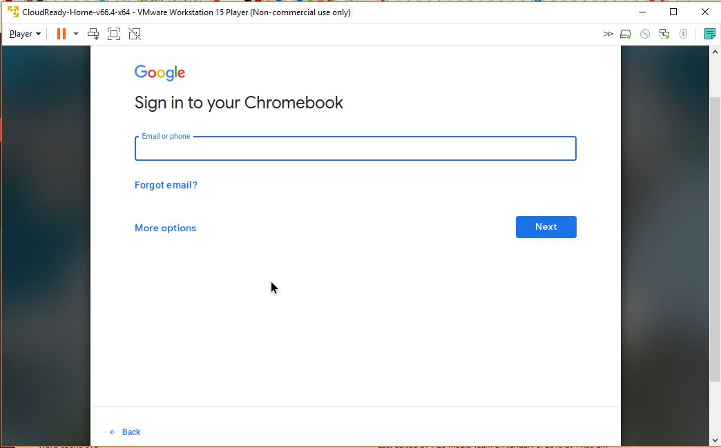 Virtual Machine Chromebook