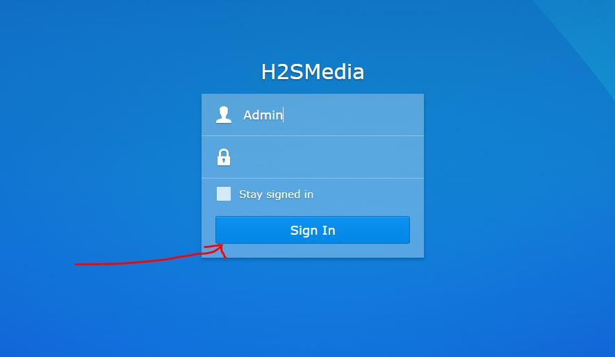 How to reset Synology NAS password to factory settings | H2S Media