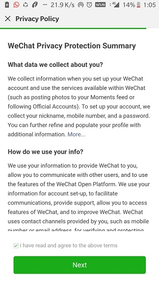 How to create Wechat personal account on Android & iPhone | H2S Media