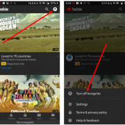 how to turn off incognito in YouTube app