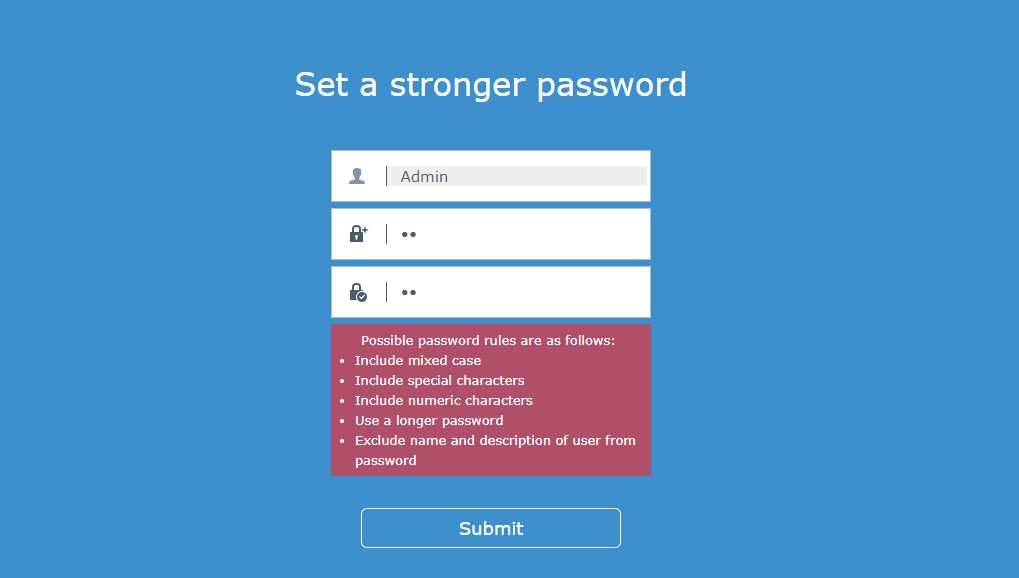 reset Synology NAS password