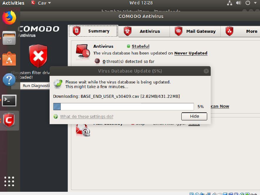 Comodo Antivirus update
