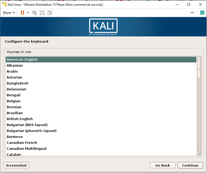 Configure the Keyboard