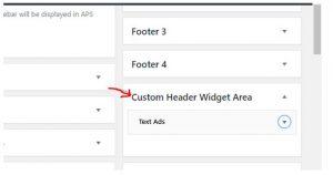 Custom HEader Widget area