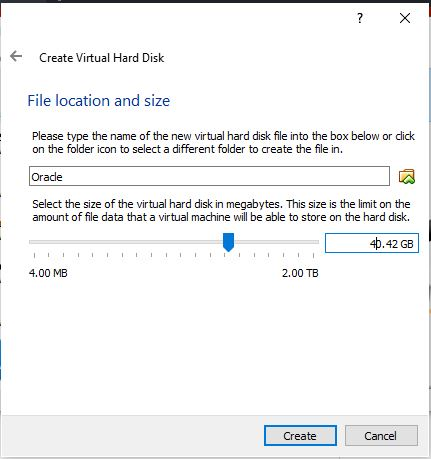 File allocation and size