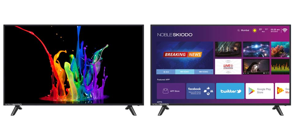 Noble Skiodo launches 'NB39INT01', a 39inch Smart HD TV with Intelligent UI