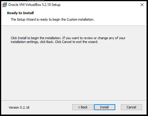 Oracel VM virtualbox installtion step by step