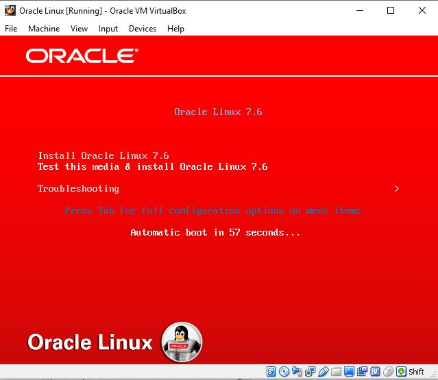 Oracle Linux GUI mode