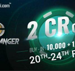 PokerBaazi announcedguaranteed prize pool of INR 2 Cr for an online poker tournament