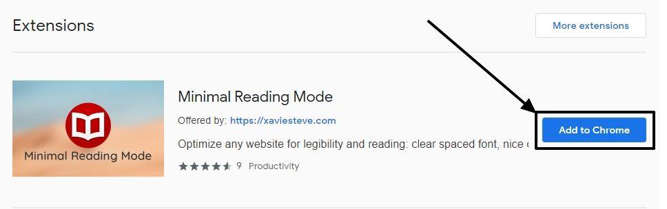 Reading mode Chrome PC 1