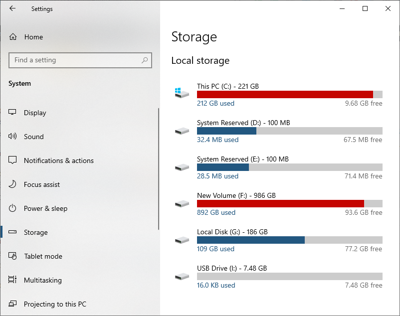 See largest file size on Windows 10