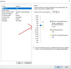 Setup RAM for Kali Linux