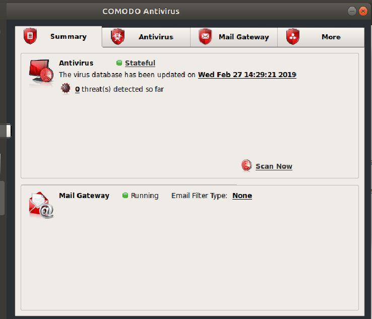 Summary comodo antivirus