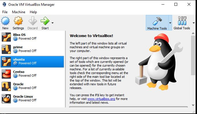 step by step virtualbox installation on WIndows 10