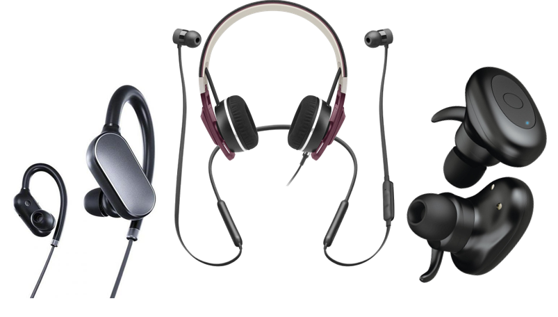 Wireless or wired earphones