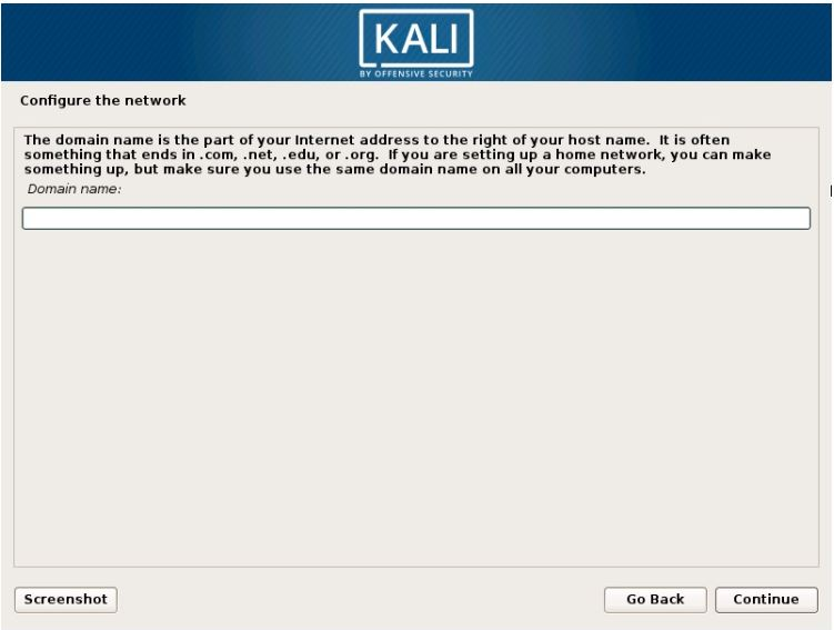 configure the network-install Kali linux on Vmware