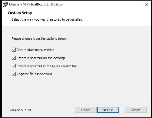 crreate shortcut Virtualbox on WIndows 10