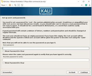 set root password
