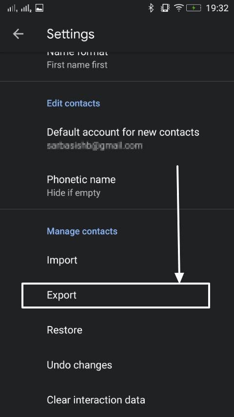 Contacts import export 2