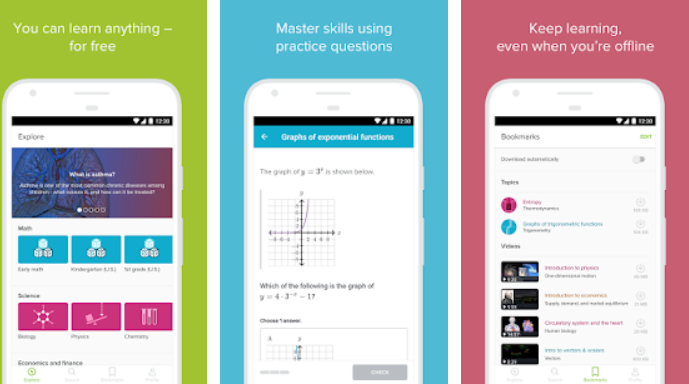 Khan Academy Best digital education apps