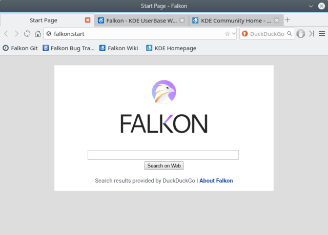 Linux lightwieght browser Falkon_3.0.0