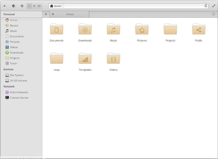 Pantheon Files file manager for Elementary OS