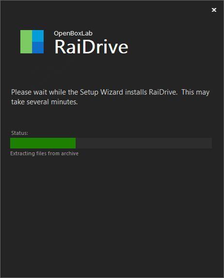 Install RaiDrive