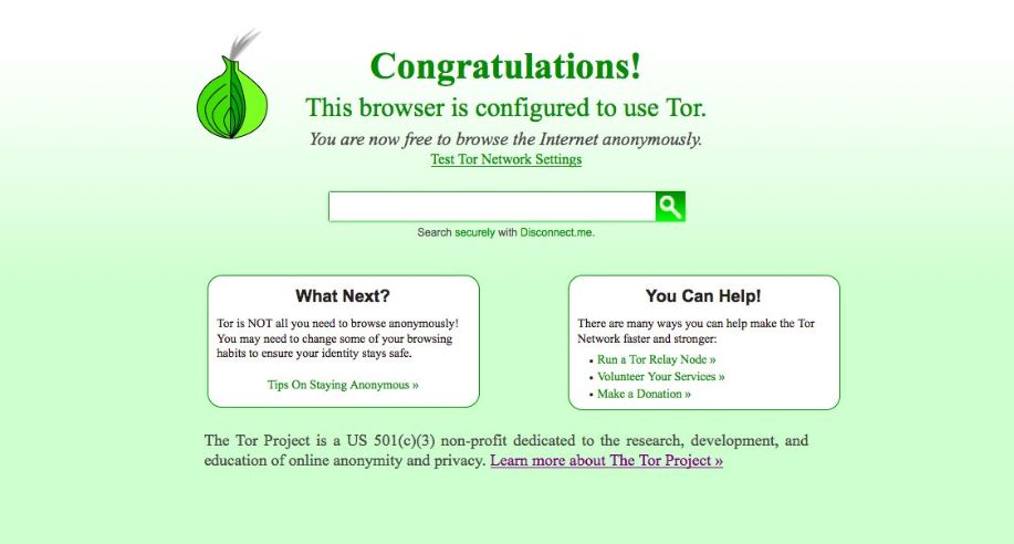 Use the TOR browser