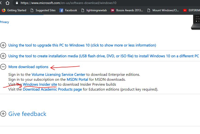 Windows 10 software download page 1