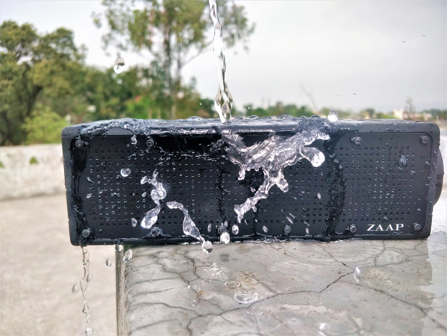 ZAAP Aqua Pro buetooth Speaker water test review