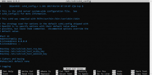 edit some settings of SSH such as listening port, root login permission