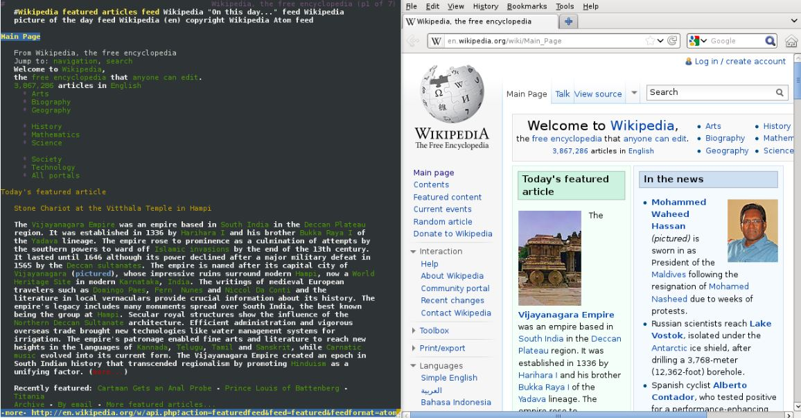 lynx text base browser screenshot