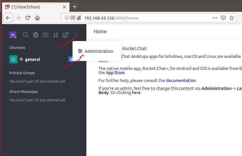 Administration Rocket chat on ubuntu