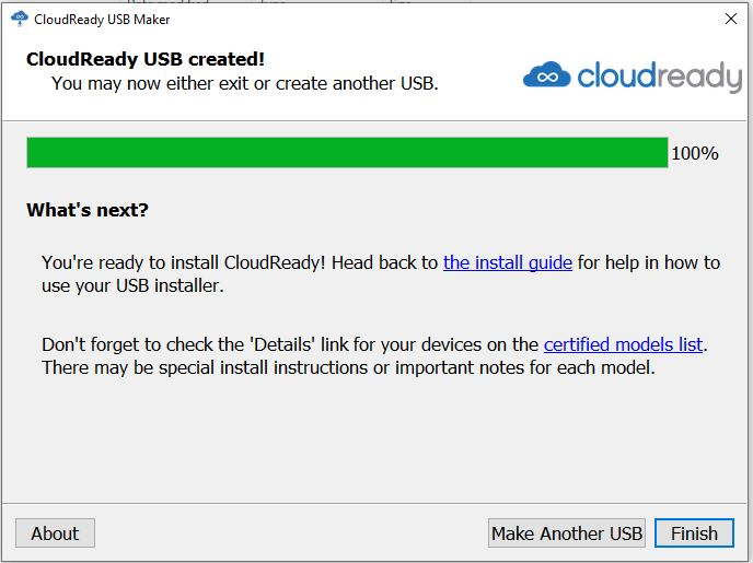 CloudReady ready to install