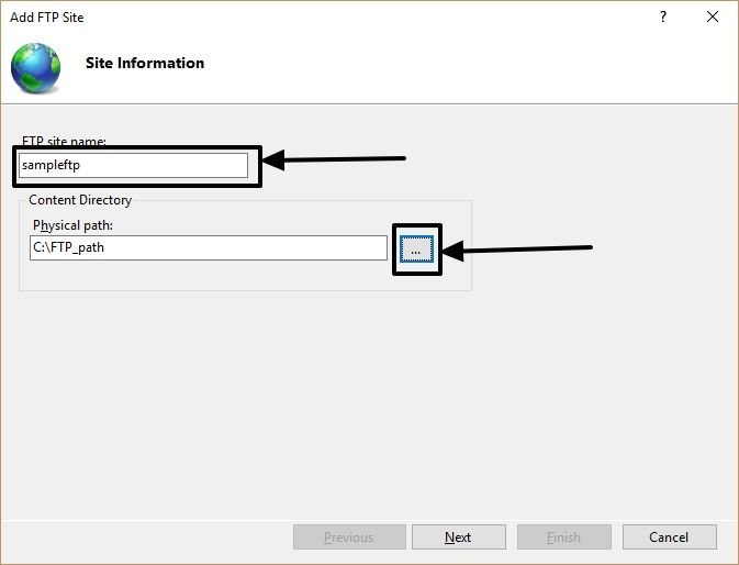 FTP on Windows 10 9