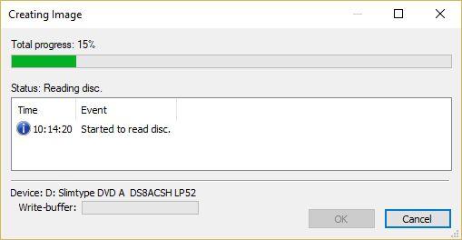 create ISO files Windows 10/8/7 local files CD/DVD