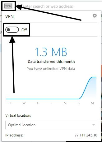 Opera VPN 4